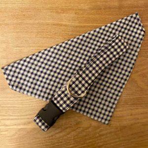 Waggle Mail Collar & Bandana - Blue Gingham